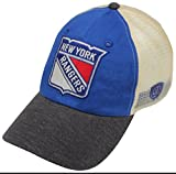 ranger hockey hat - NHL New York Rangers Men's Boone Adjustable Hat, One Size, Royal/Stone