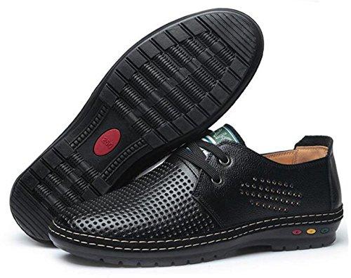 WUIWUIYU à Casual Homme Été Chaussures WUIWUIYU Lacets Homme Noir Pwq5I1