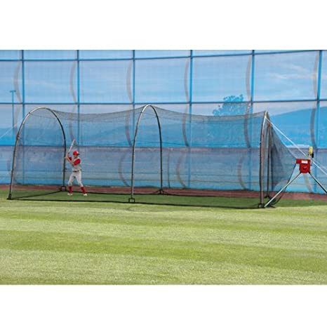 Jaula de bateo de béisbol - Máquina Lanza & 24 Backyard Sistema ...