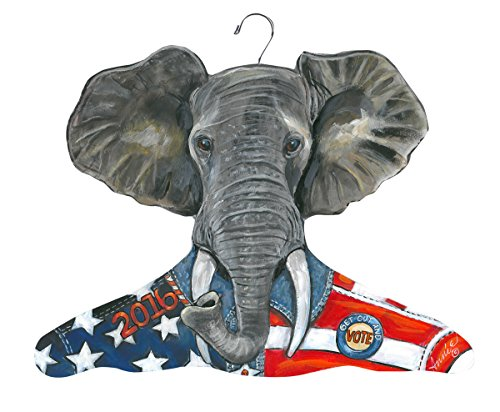 Stupell Home Décor Clothing Hanger Republican Elephant, 17 x 0.4 x 11, Proudly Made in USA