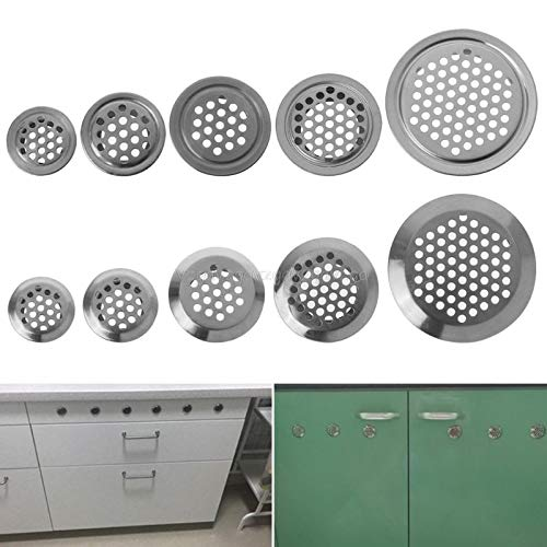 Vents - Stainless Steel Air Vent Hole Ventilation Louver Round Shaped Venting Mesh Holes F14 19 - Camouflage Lock Round Inch White Book Birds Refrigerator Modern Rear 4x12 Floor Dryer Ins