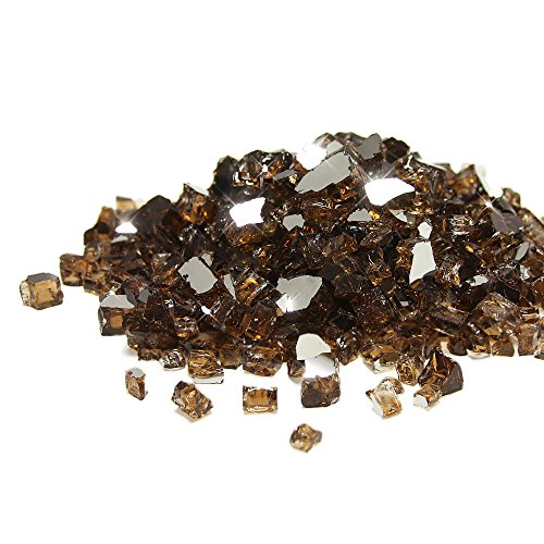 Starfire Glass 10-Pound Fire Glass 1/2-Inch Rich Copper Reflective
