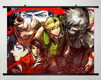 Wall Scroll Poster Fabric Painting For Anime Tokyo Ghoul Key