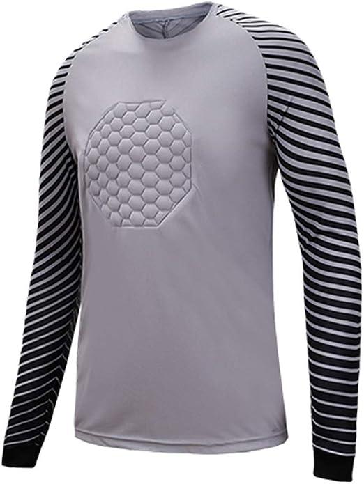 YSPORT Fútbol Americano Traje Portero Uniforme Futbol Jerseys Camisa Dragón Manga Larga (Color : Dark Gray, Size : XL): Amazon.es: Hogar