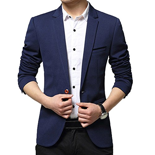 DAVID ANN Mens Casual Blazer Jacket product image