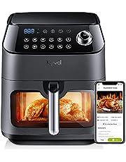 12 Presets Smart Air Fryer, Transparent Window Design, Wifi/App/Voice Control, with Nonstick Basket, 6QT for Family Size
