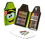 Crayola Tip Tool Kit, Electric Lime, 40 Art Tools and Paper, Tip Character