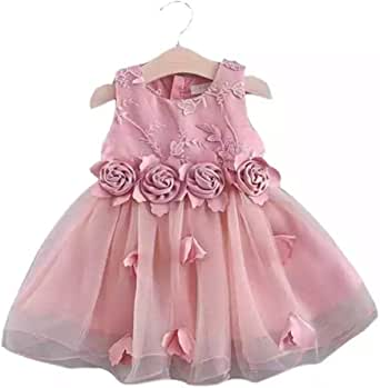 Girls Dress Waist 4 Flower Lace Gauze Children's Clothing