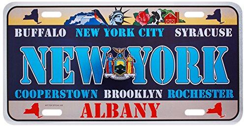 Dimension 9 Home Decorative Plate, New York (Decorative License Plate New York)
