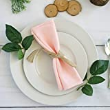Efavormart Pack of 25 Premium BLUSH 20'' x 20'' Washable Polyester Napkins Great for Wedding Party Restaurant Dinner Parties