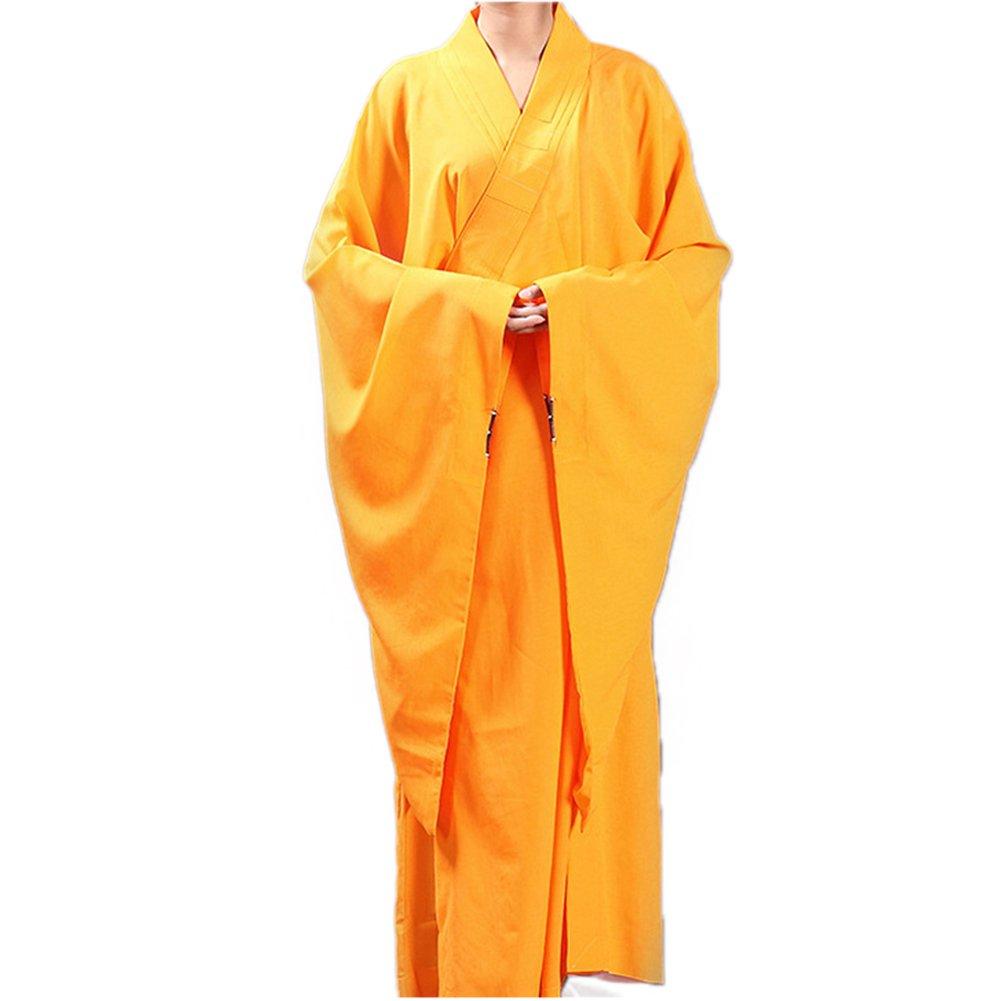 SUNERLORY Meditación Vestido largo Uniforme Zen Traje de Kung Fu Traje de monje budista Shaolin Vestido