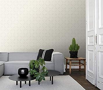 128041 papier peint carrelages us/és argent dESTAhome.nl