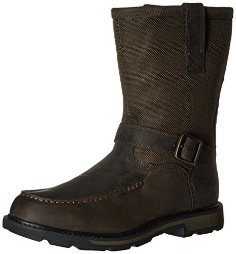 Moccasin Dark Boot Men's Groundbreaker Work Olive Dark Brown H2O Toe Ariat Cordura Upwf10q0x
