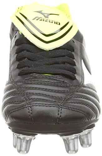 MizunoFortuna Rugby Sp - Zapatillas de rugby para hombre Negro (Black/White/Yellow)