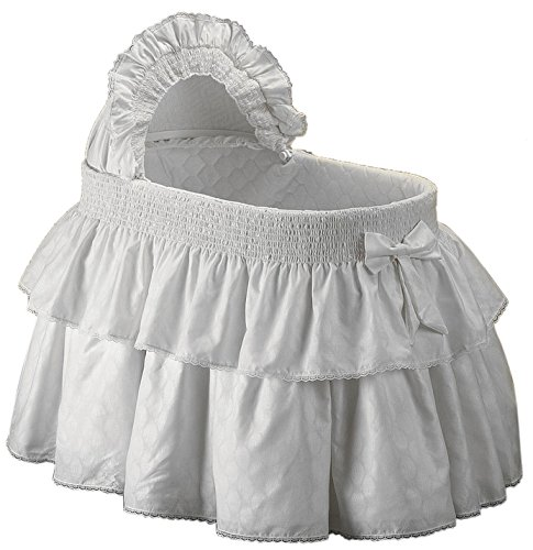 Baby Doll Bedding Neutral Paradise Bassinet Bedding Set for boy and Girly, White by BabyDoll Bedding