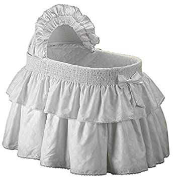 baby doll bedding neutral paradise bassinet bedding set for boy and girly white - Bassinet Bedding