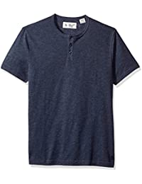 Original Penguin Men's Short Sleeve Bing Henley Slim