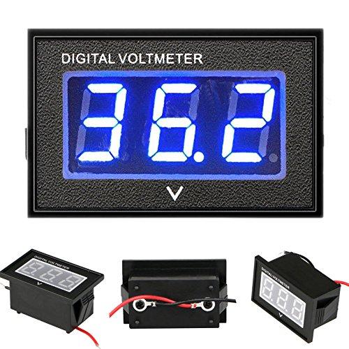 Volt Voltmeter - EEEKit 36 Volt LED Digital Volt Meter Battery Gauge, Waterproof Golf Cart Club Car Digital Voltmeter Up to 45V for Club Car EZGO Yamaha