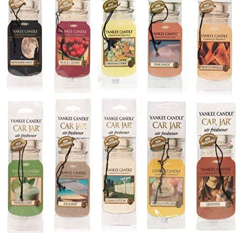 Yankee Candle Assorted Paper Car Jar Air Fresheners (10 Pack)