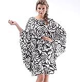 Easyhon Women's Gorgeous Dress Satin Pajamas Sexy Sleepwear & Batwing Sleeve Nightgown(White,One Size)