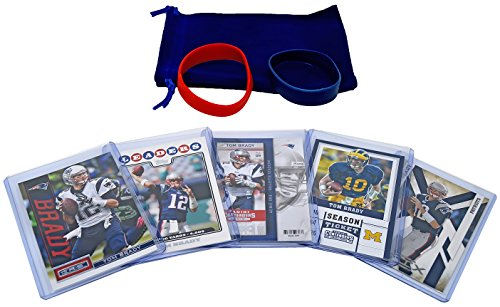 New England Patriots Cards  Tom Brady  Rob Gronkowski  Danny Amendola  Brandin Cooks  Dion Lewis  Julian Edelman Assorted Trading Cards And Wristbands Bundle