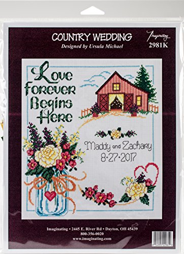 Country Wedding Counted Cross Stitch Kit