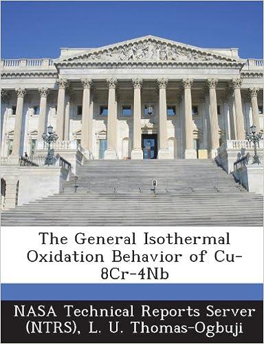 L. U. Thomas-Ogbuji - The General Isothermal Oxidation Behavior Of Cu-8cr-4nb
