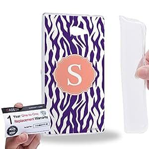 Case88 [Sony Xperia M2] Gel TPU Carcasa/Funda & Tarjeta de garantía - Art Typography Fashion Alphabet S Style 1262