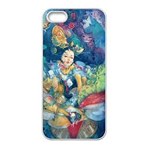 iPhone 5 5s Cell Phone Case White Alice in Wonderland Plastic Customized Phone Case Cover XPDSUNTR34455