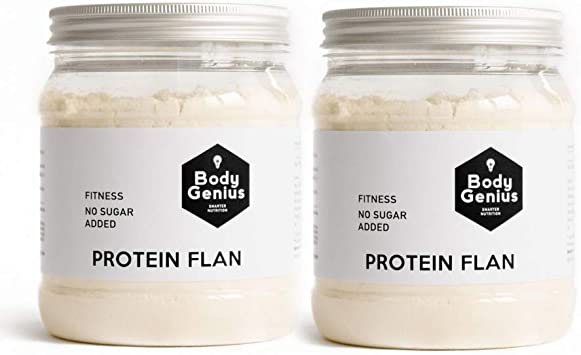 BODY GENIUS Dúo Protein Flan (Galleta). 2x275g. Preparado en polvo ...