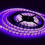 DODOLIGHTNESS Decoration Strips Light Lampux 12V Flexible LED Strip Lights, Purple, Non-waterproof, 300 Units 3528 LEDs, Light Strips, Pack of 16.4ft