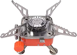 SERTG Foldable Stove - Portable Windproof Camping Gas Stove - Outdoor Cooking Foldable Stove Burner w/Bag - Compatible with Most Gas Base
