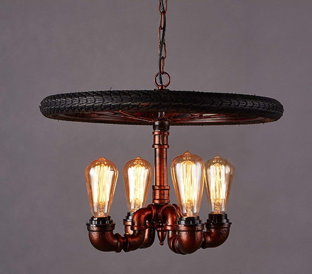 TJZY Novely Chandeliers-Chandelier Loft Industrial Style Iron Pipe Light Restaurant Bar Living Room Light 35 50Cm E27, Creative Decorative Lighting