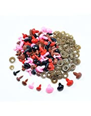 100 Pieces Plastic Safety Screw Eyes Noses Kit for DIY Teddy Bear Doll Toys Sewing Crafts
