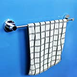 Yomiokla Bathroom Accessories - Kitchen, Toilet, Balcony and Bathroom Metal Towel Ring suction power single lever towel
