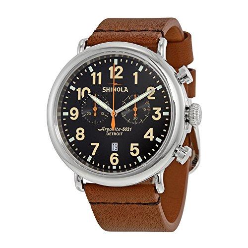(Shinola Detroit Men's The Runwell Chrono 47mm - 10000044 Black/Tan Watch)