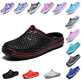 OUYAJI Garden Clog Shoes Beach Footwear Water bash Womens Summer Slippers 407Black-40