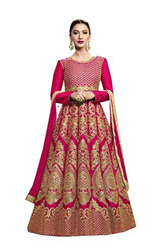 Da Facioun Indian Women Designer Partywear Ethnic Traditonal Royal Pink Anarkali Salwar Kameez. by Da Facioun