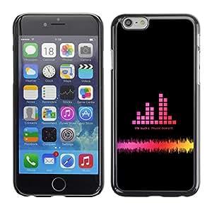 Paccase / SLIM PC / Aliminium Casa Carcasa Funda Case Cover - Music Bar Graph - Apple Iphone 6 Plus 5.5