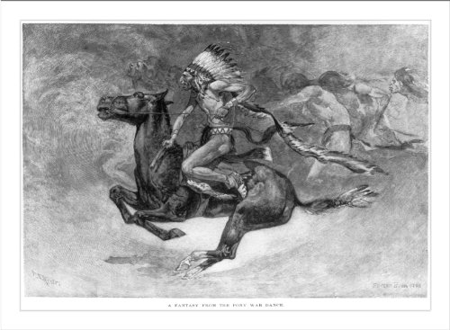 Historic Print (L): A Fantasy from the Pony War Dance