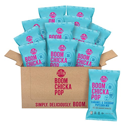 Angie's BOOMCHICKAPOP Caramel & Cheddar Popcorn Mix, 6 Ounce Bag (Pack of 12 Bags)