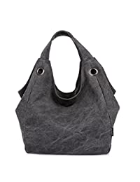 TianHengYi Women's Big Capacity Canvas Double Top Handle Tote Handbag Vintage Hobo Shoulder Bag Shopper
