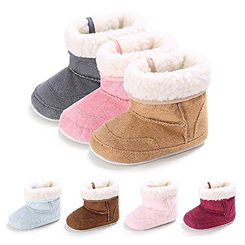 Pictures of Meckior Infant Baby Girls Winter Snow Booties 5