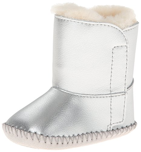 UGG Kids Baby Girl's Cassie Metallic  Silver Boot SM  M
