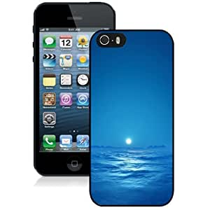 New Personalized Custom Designed For iPhone 5s Phone Case For Blue Sky Sea Bright Moon Phone Case Cover