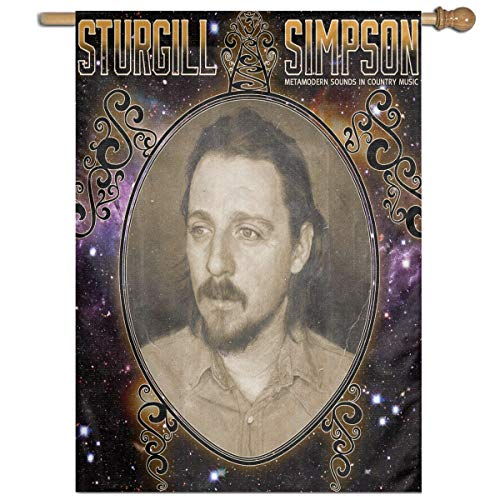 BeatriceBGault-id Sturgill Simpson Classic Home Garden Flag Polyester Flag Indoor/Outdoor Wall Banners Decorative Flag Garden Flag (27x37 Inch) -