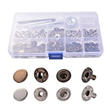 XCSOURCE 12mm 40Sets Metal Press Stud Snap Button Popper Fastener Die Punch Tool Set for DIY Sewing Repair Clothes CR017