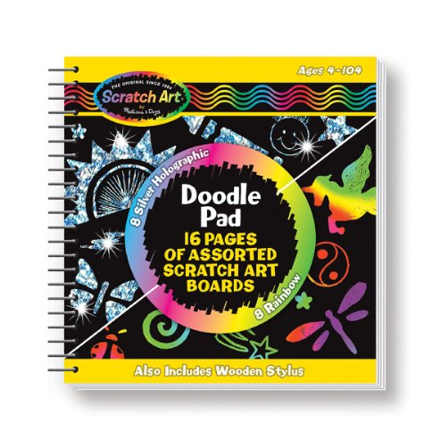 Price comparison product image Melissa & Doug Scratch Art Doodle Pad With 16 Scratch-Art Boards and Wooden Stylus