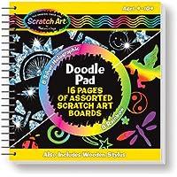 Melissa & Doug Scratch Art anotador con 16 tablas para raspar y lápiz óptico