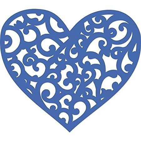 Kaisercraft -Fustella decorativa a forma di cuore, in metallo, colore: grigio DD559